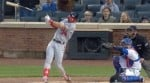 Bryce Harper Hits 406-Foot Home Run While Breaking His Bat
