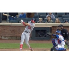 Image for Bryce Harper Hits 406-Foot Home Run While Breaking His Bat