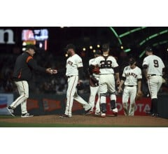 Image for Giants Closer Breaks Hand Punching Door Following Poor Outing