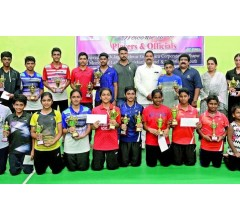 Image for Vishnu wins two titles in state badminton tourney