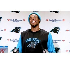 Image for Following Female Reporter's Question Cam Newton Laughs at Her