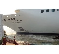 Image for MSC Cruise Ship Smashes into Dock in Honduras
