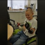 Allan Gifford is the youngest boy in the world with two prosthetic hands