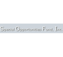 Image for Special Opportunities Fund, Inc. Plans Monthly Dividend of $0.11 (NYSE:SPE)