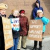 Supporters of Walmart Associates Call for Higher Pay