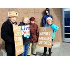 Image for Supporters of Walmart Associates Call for Higher Pay