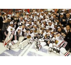 Image for Blackhawks lift Stanley Cup as NHL Champions