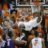 Oklahoma State's Smart Shoves Fan from Texas Tech