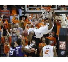 Image for Oklahoma State's Smart Shoves Fan from Texas Tech