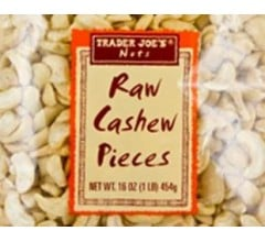 Image for Raw Cashew Pieces Recalled by Trader Joe's for Risk of Salmonella